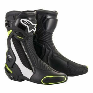 ALPINESTARS SMX PLUS V2 SPORT Motorcycle Boot AS2221019012544 Blk/Wht/Flu SZ 44
