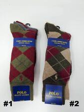 Polo Ralph Lauren Men's Dress Argyle Crew 3 pack Socks, 10-13, Multi-Color