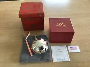 Wallace 2013 Annual Silver Plated Sleigh Bell Ornament 43rd Edition Mint In Box