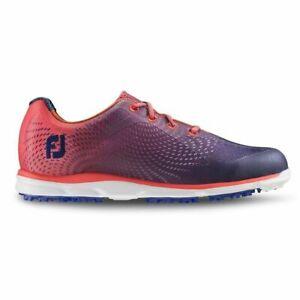 NEW! FootJoy [7] Medium emPower Women's Golf Shoes 98014-Papaya/Navy