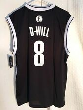 fb0e34c4513 adidas NBA Jersey Nets Deron Williams Black Nickname Sz S