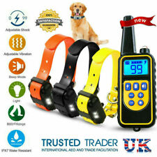 800m Waterproof Dog Training Collar Rechargeable Electric Shock LCD Display XL