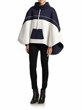 LAVEER  $495  NAVY WHITE COLORBLOCK PONCHO JACKET  ONE SIZE