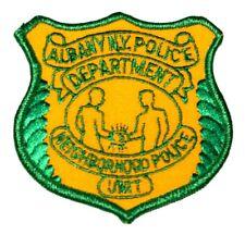 "ALBANY – NEIGHBORHOOD POLICE - NEW YORK NY Sheriff Police Patch HANDSHAKE 3.5"" ~"