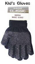 Kids Unisex Boys Girls Knitted Warm Full Finger Winter Gripper Magic Gloves