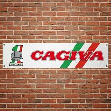 Cagiva Banner Garage Workshop Motorcycle PVC Sign Trackside Display