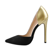 onlymaker Women's High Heel Pointed Toe Slip On Party Sexy Pump Black Size Us8