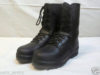 Swiss Army Para Boots Black Leather Combat Assault Original Military Surplus