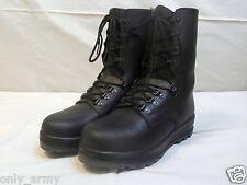Swiss Army Para Boots Black Leather Combat Assault Original Military Surplus