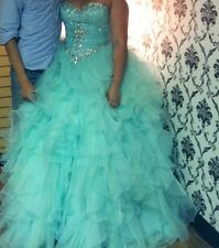 Stunning Turquoise Prom Dress Size 8 for Sale!