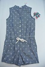 Gymboree Girls STRIPES ANCHOR Shorts ROMPER Chambray 5 curlies Spring Dressy