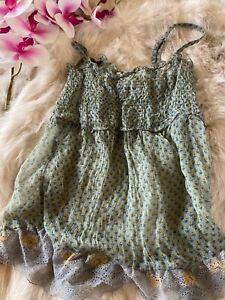 Intimissimi green Camisole Top sleepwear nightwear size S