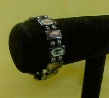 Stretch Bracelet with Magnetic Beads and Religious Decals