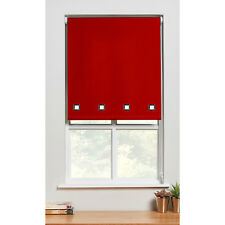 Square Eyelet Roller Blind Trimmable Window Blinds Polyester Red 60cm x 60cm