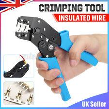 More details for sn01bm ratchet crimper cable wire terminals electrical plier crimping tool set