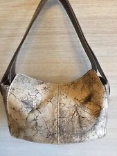 TOD'S Beautiful Small Brown Suede and Leather Handbag