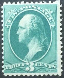 US Scott 207, NH Never Hinged, cat $250, 3c Washington Re-Engraved 1881