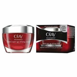 3x Olay 81101027 Regenerist 3 Point Firming Anti-Ageing Moisturiser Cream - 50ml