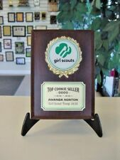 GIRL SCOUTS TROPHY AWARD PLAQUE FREE ENGRAVING
