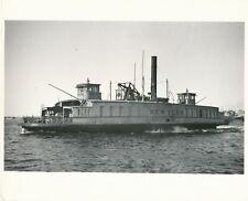 Grande argentique Bateau à vapeur steamboat steamship voiture New-york sea