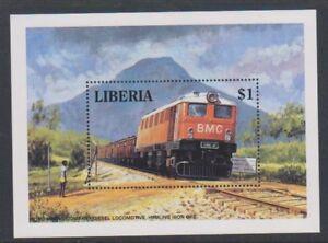 Liberia - 1994, Bong Mining Company (BMC) Diesel Locomotive Blatt - MNH