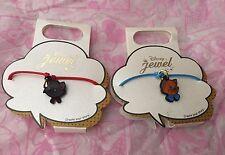 Disney store Japan Toulouse & Berlioz Mini Charm w/ Cord  Aristocats Bracelet