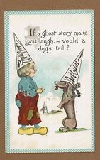 If a ghost story make you laugh-vould a dogs tail, Dutch Boy & Dog Daffydill hat