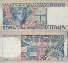 50.000 LIRE VOLTO DI DONNA PRIMO DEC.11 APRILE 1980