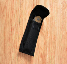 HQ New Black Nylon Sheath For Folding Pocket Knife Pouch Belt loop Case Good