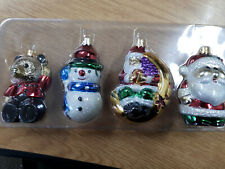 Christmas tree Glass baubles pack of 4