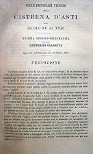 PIEMONTE CISTERNA D'ASTI STORIA LOCALE CON TAVOLE