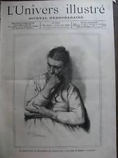 L'UNIVERS ILLUSTRE 1889 N 1804 -  GREVES DU PAS DE CALAIS, UNE FEMME DE MINEUR