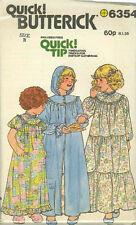 Vintage Niñas Camisón & Bata patrón de costura b6354 Talle 4-6