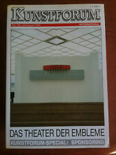 Kunstforum International Bd 102 Juli/August 1989 Das Theater der embleme