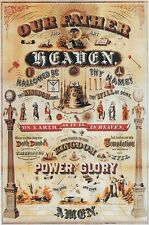 HUGE Masonic LORD'S PRAYER Art Print Poster ring Parchment Freemasonry Master