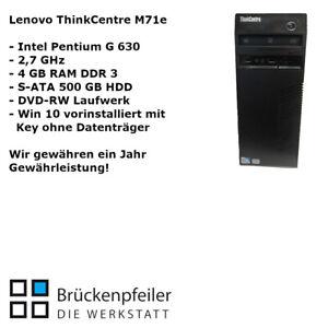 Lenovo ThinkCentre M71e Pentium G630 4 GB RAM 500 GB HDD DVD-RW WIN10 vorinstall