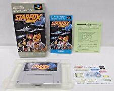 SNES -- STAR FOX -- Boxed. popular shooter. Super famicom, Japan game. 13200