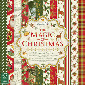 Dovecraft The Magic of Christmas FSC 8x8 Paper Pack