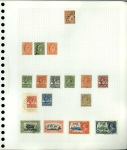 Falkland Islands QV-KGV Album Page Of Stamps #V19012