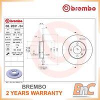 2x BREMBO FRONT BRAKE DISC SET VW AUDI SEAT OEM 08263134 823615301
