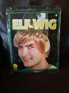 Elf Costume Wig Adult Mens Funny Christmas or Halloween