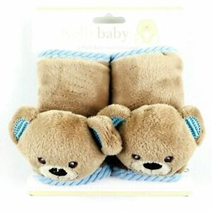 Kelly Baby Blue Plush Child Safety Seat and Stroller Bear Strap Covers NEW