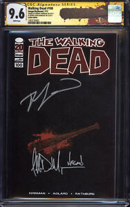 WALKING DEAD #100 (Lucille variant) CGC 9.6 SS / Signed by Kirkman & Negan!!