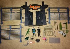 Vintage JURASSIC PARK LOT Compound Playset, Action Figures, Weapons, Dinosaurs