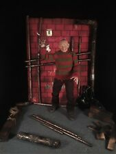1/6 Freddy Krueger Boiler Room Diorama for Sideshow Hot Toys Horror Custom
