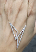 Steal Deal! 1.10ctw Natural Round Diamond Necklace 14K Gold