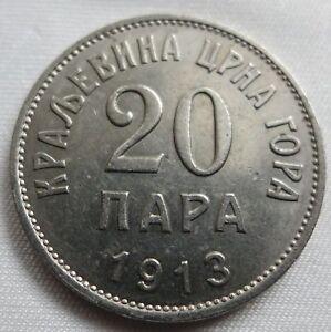 MONTENEGRO Yugoslavia 20 para 1913 About UNC #B10