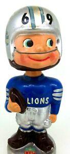 1969 Vintage Detroit Lions Bobblehead Nodder - Japan - NFL Retro Collectible