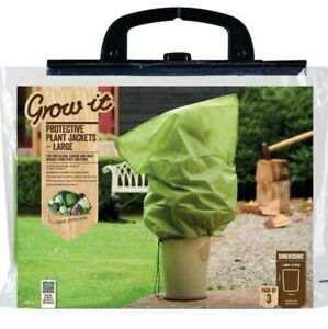 Gardman Large Fleece Plant Warming Frost Protection Jackets Covers 2 Pack