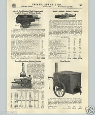 1937 PAPER AD Aeroil Pavers' Asphalt Melting Road Kettle Surface Heater Trailer